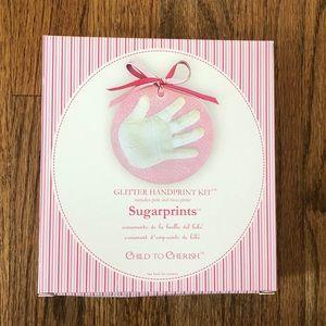 Child to Cherish Sugarprints Glitter Handprint Kit